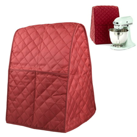 Stand Mixer Dust-Proof Cover with Pocket and Organizer Bag for Kitchenaid,Sunbeam,Cuisinart (Black/Coffee/Red) Stand Mixer Cloth Cover