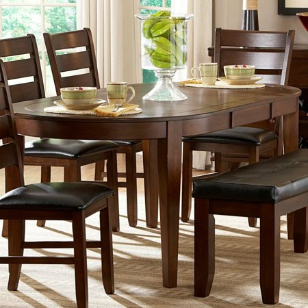 Casual Dining Butterfly Leaf (Homelegance Ameillia Butterfly Leaf Oval Dining Table in Dark Oak)