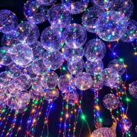 Joy Guru 18 Inch 1PC LED Light Up Luminous Latex Balloon Fairy LED Colorful Balloon Inflatable with Helium Christmas Halloween Party Wedding House Decoration