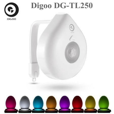 Digoo Dg Tl250 Intelligent 8 Color Body Sensor Motion Detection Activated Led Toilet Night Light