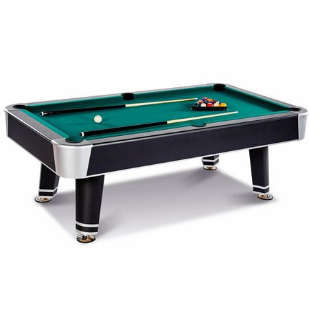 Barrington 7.5 Ft. Arcade Billiard Table with Cue Set & Accessory Kit, Black/Green (Logo Billiard Pool)