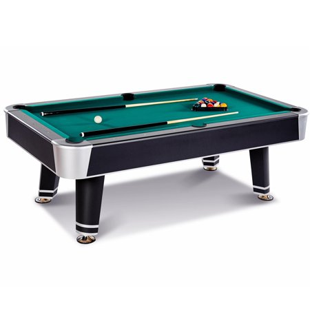 Barrington 7.5 Ft. Arcade Billiard Table with Cue Set & Accessory Kit, Black/Green (Tech Billiard Table)