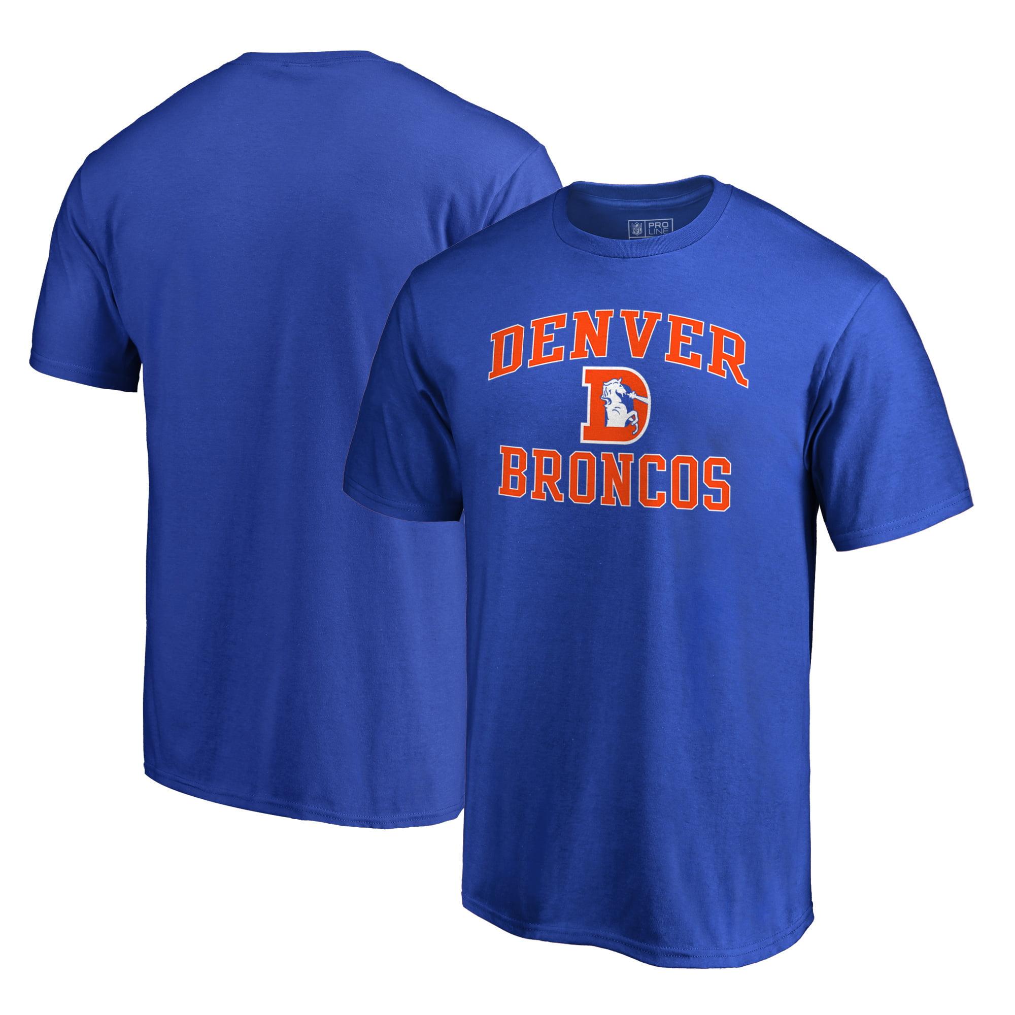Denver Broncos NFL Pro Line by Fanatics Branded Vintage Victory Arch T-Shirt - Royal