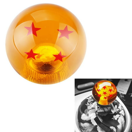 DEWHEL 54MM dragon ball Z Manual Gear shift shifter knob JDM 4 5 6 Speed 4 Star Round Universal Fit for Honda Acura Mazda Mitsubishi Nissan Infiniti Lexus Toyota Scion Subaru Hyundai Ford Jeep etc