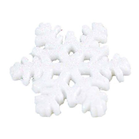 20PCS Vivid Snowflake Pattern Garden Christmas Miniature Decoration Micro Landscape Ornaments