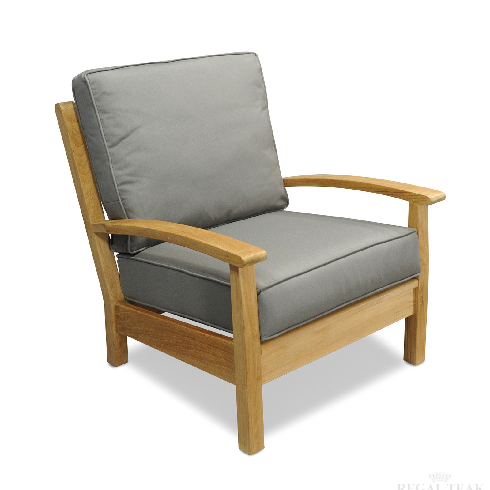 Regal Teak Teak Deep Seating Patio Club Chair - Set of 2