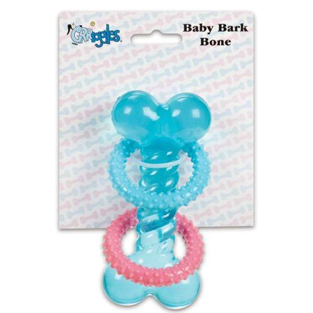 Baby Bark Puppy Dog Teething Bone Toy Thermoplastic Rubber
