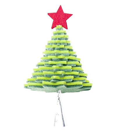 babydream1 Christmas Flannel Door Hanging Decor Star Xmas Tree Bell Metal Pendant Ceiling Decorations - image 1 of 9