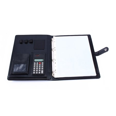 Multifunctional professional business zippered portfolio padfolio multifunctional professional business zippered portfolio padfolio folder document case organizer a4 pu leather with calculator business colourmoves