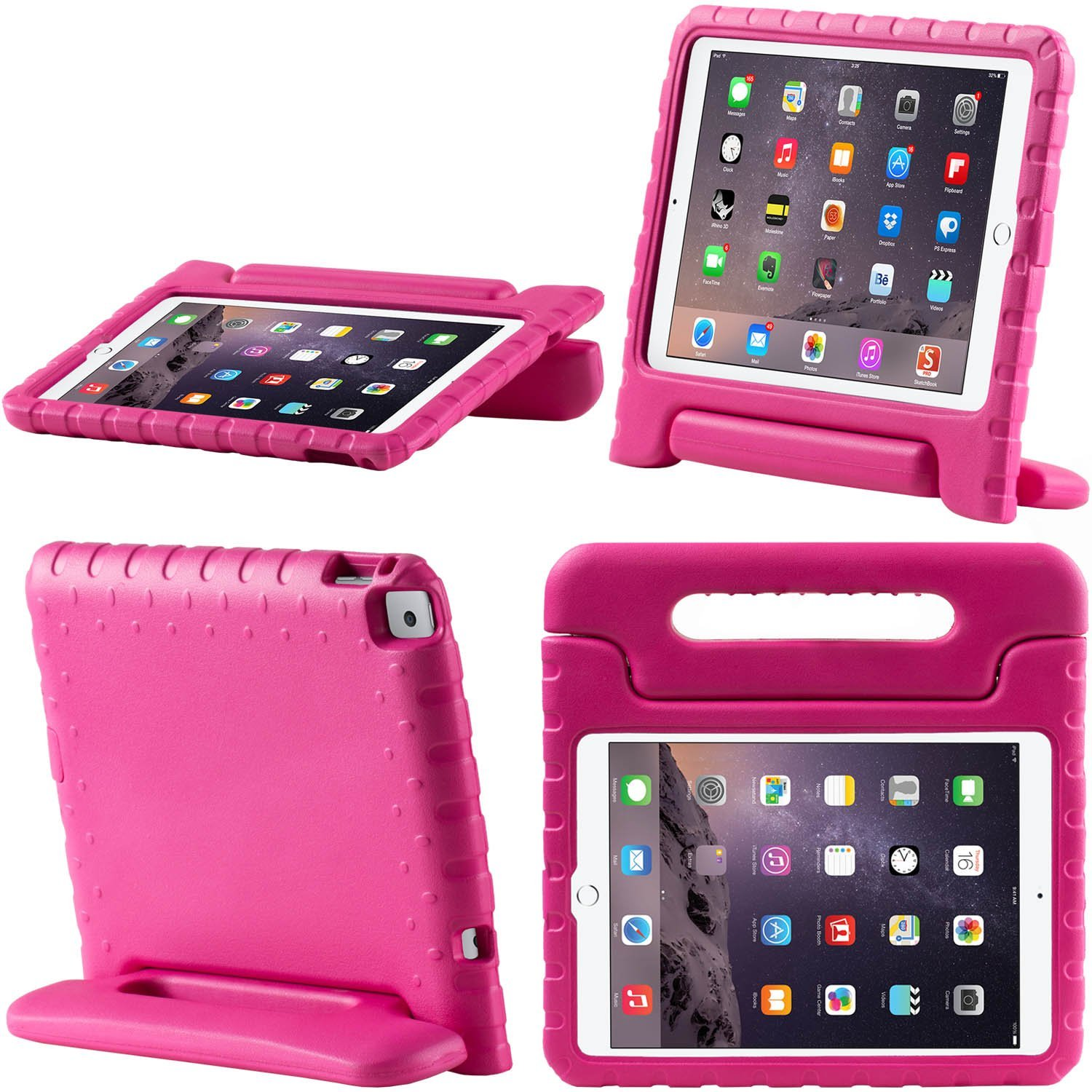 i-Blason - Armorbox Kido Series Lightweight Super Protective Convertible Stand Case for Apple iPad Air 2 - Pink