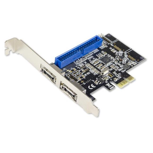 Combo eSATA 6Gbps and IDE PCI e Card with Hardware RAID Marvell 88SE9128 Chipset