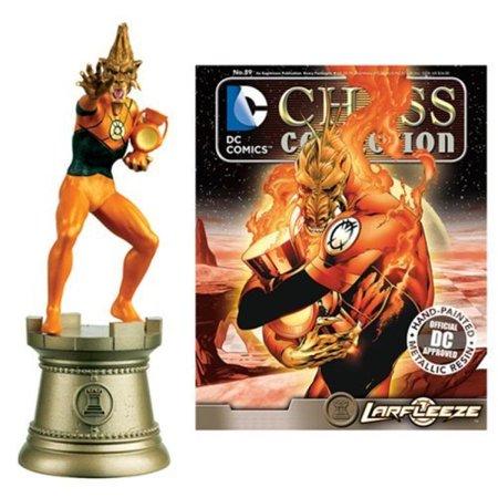 Dc Superhero Larfleeze Black Rook Chess Piece With Collector Magazine