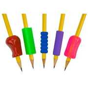 The Pencil Grip, Mixed Grip Package, Assorted Shapes and Colors, 5-Count
