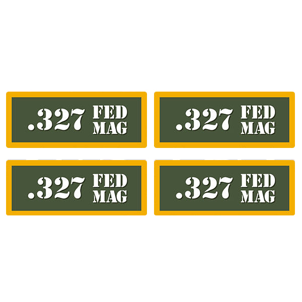 ".327 FED MAG Ammo Can 4 Pack 3"" Olive OD Sticker Gun Ammunition Decal"
