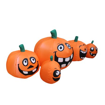 5 foot wide halloween inflatable funny cute pumpkins patch indoor outdoor garden yard decoration](Cute Easy Halloween Decoration Ideas)