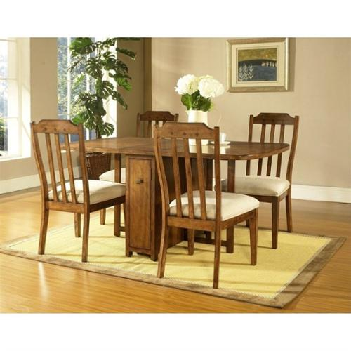 Somerton Craftsman Gate Dining Table in Medium Brown Oak