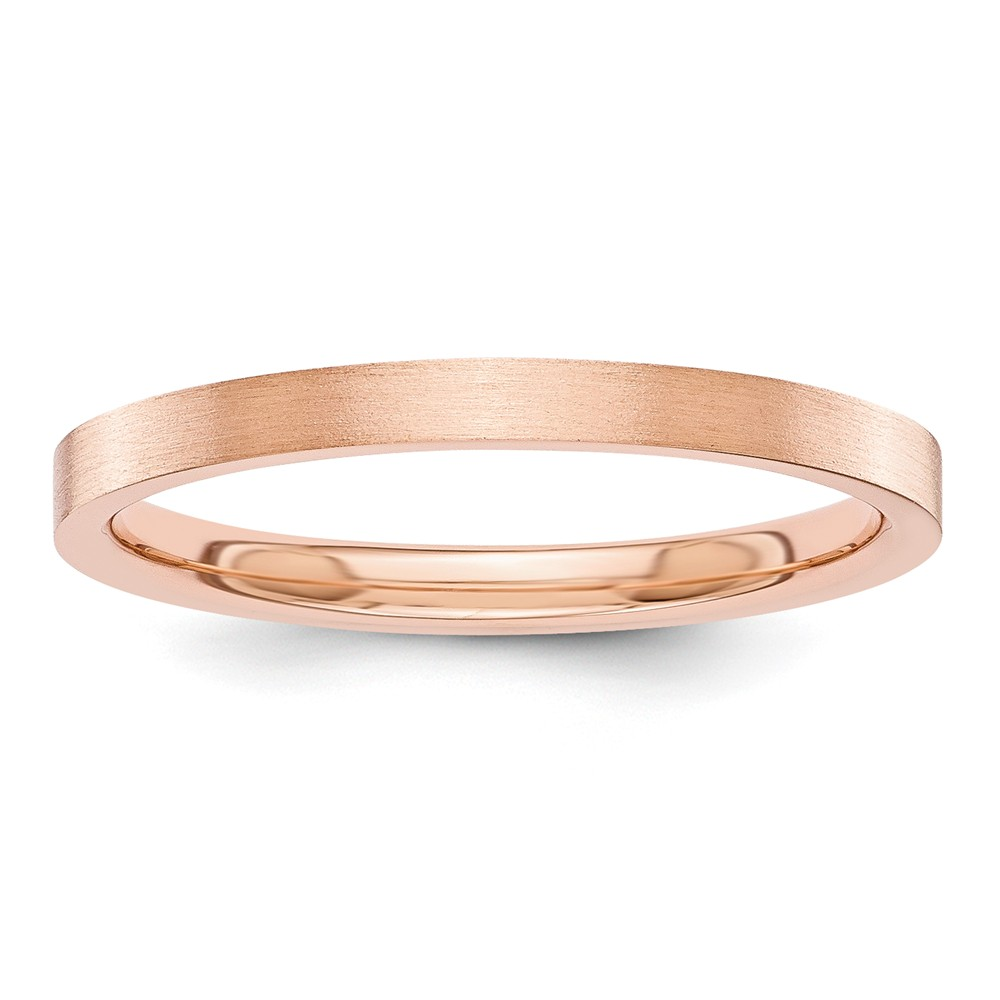 ICE CARATS ICE CARATS 14kt Rose Gold 2mm Flat Wedding Ring Band Size 7.00 Classic Fine Jewelry Ideal Gifts For Women... by IceCarats Designer Jewelry Gift USA