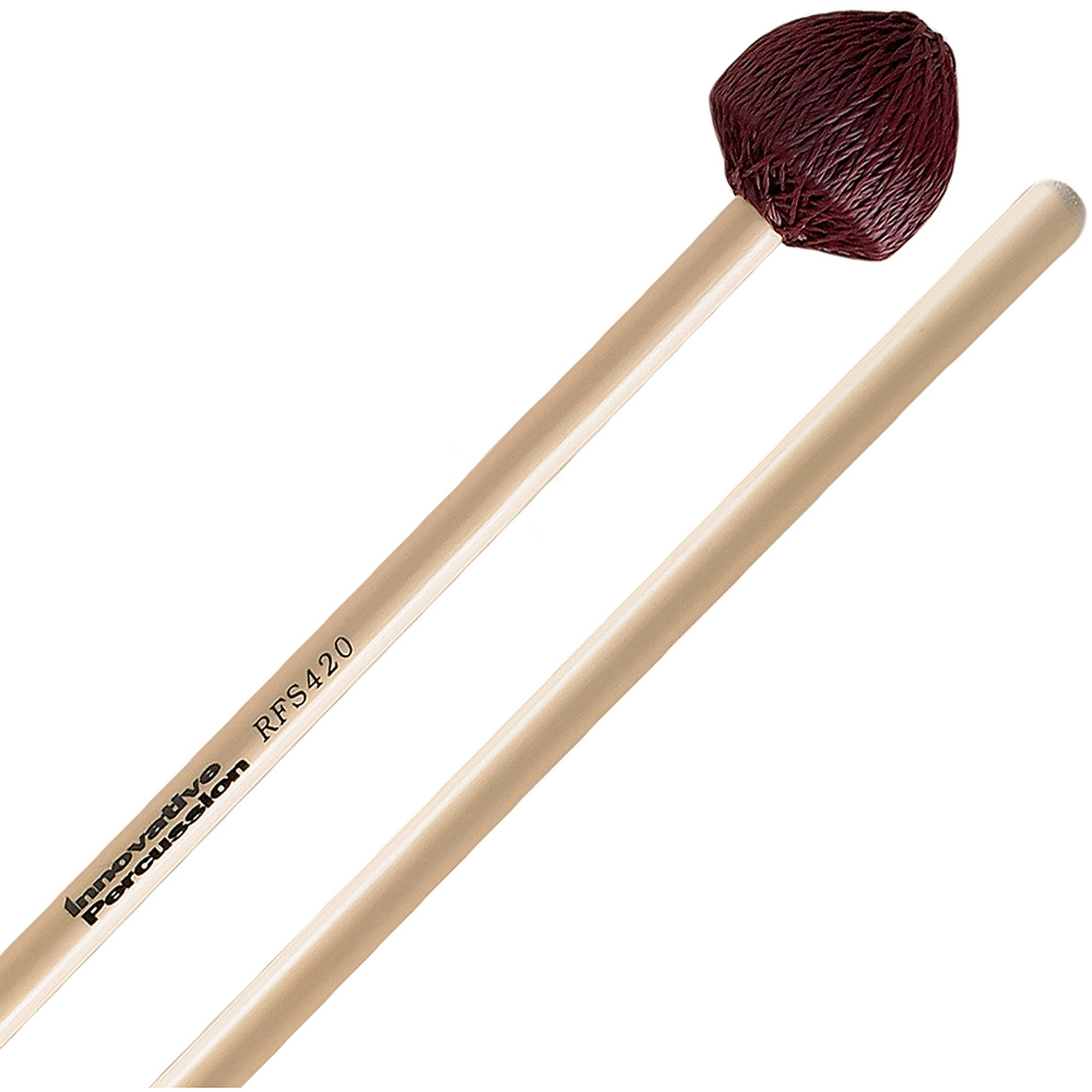 Innovative Percussion RFS420 Field Series Hard Vibraphone Mallets with Rattan Handles by Innovative Percussion