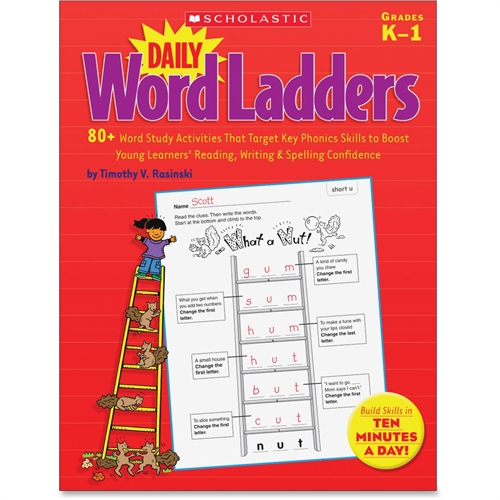 Daily Work Ladders Book, Grades K-1, Multi, Sold as 1 Each