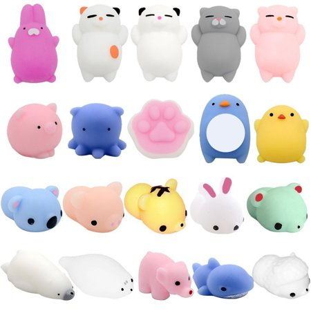 Party Store Bangor (20 Pack Mochi Squishy Toys Mini Animal Squishies Party Favors for Kids Bulk Mini Kawaii Squishies Mochi Animals Stress Reliever Anxiety Toys Squishy Cat Squishy with Storage)