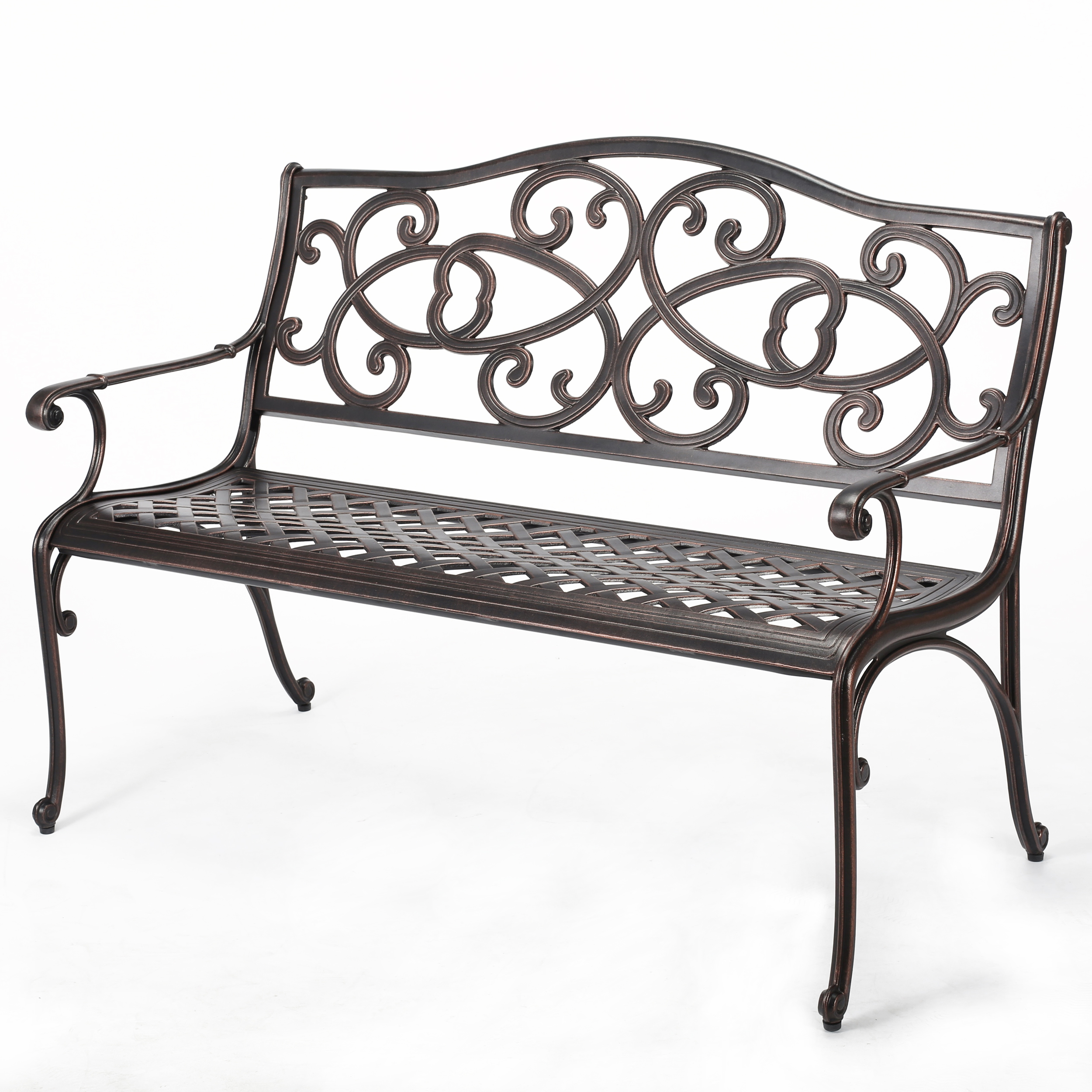 Le Vinette Acacia Wood 4-Piece Outdoor Chat Set w/ Cushion, Gray and Tan