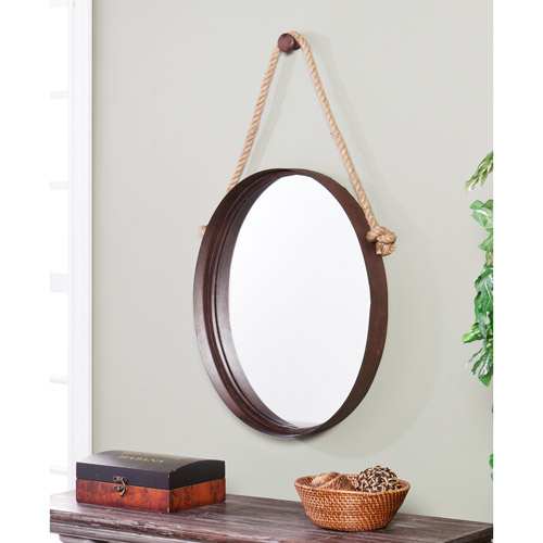Land and Sea Decorative Mirror, Rust