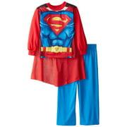 Superman Little Boys' New Supersuit 2-Piece Pajama Set, Red, Size: 8