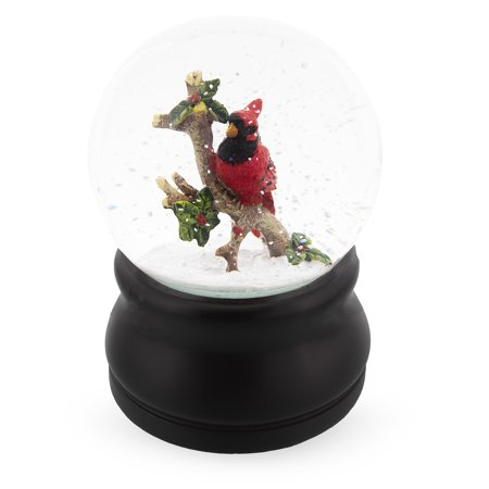 Cardinal Snow - The Red Cardinal Snow Globe