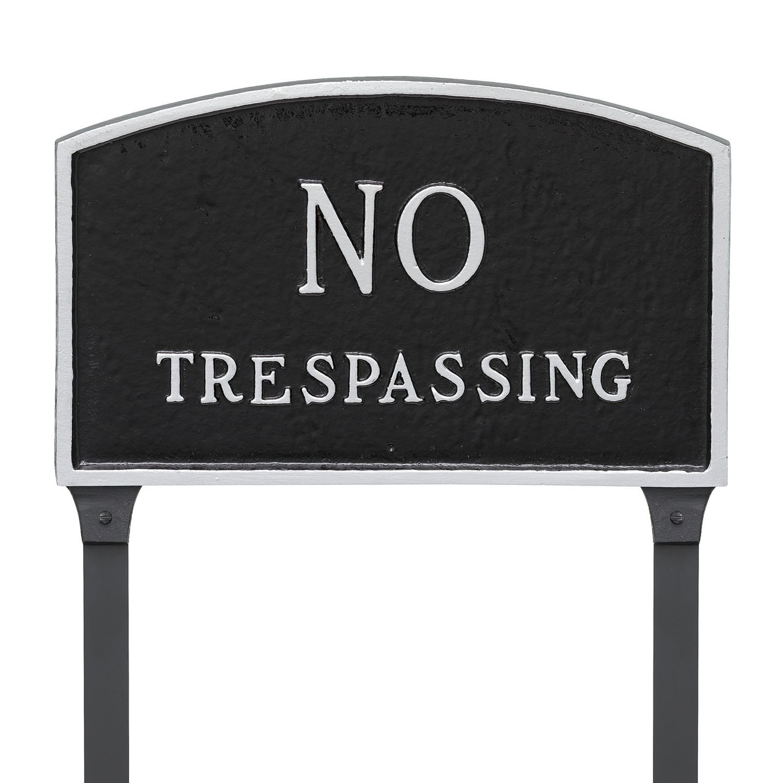Montague Metal Products No Trespassing Arched Lawn Plaque by Montague Metal Products Inc
