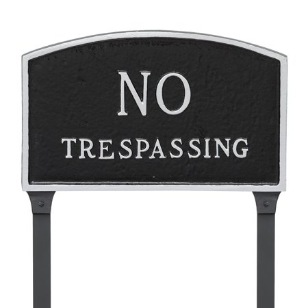 Montague Metal Products No Trespassing Arched Lawn -