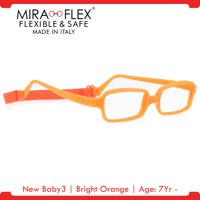 Miraflex: New Baby3 Unbreakable Kids Eyeglass Frames | 45/17 - Pink | Age: 7Yr - 9Yr