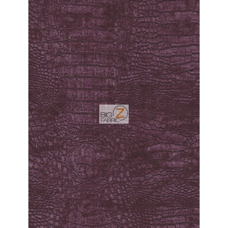 Majestic Materials - Alligator Crocodile Embossed Upholstery Chenille Fabric / Majestic / Sold By The Yard