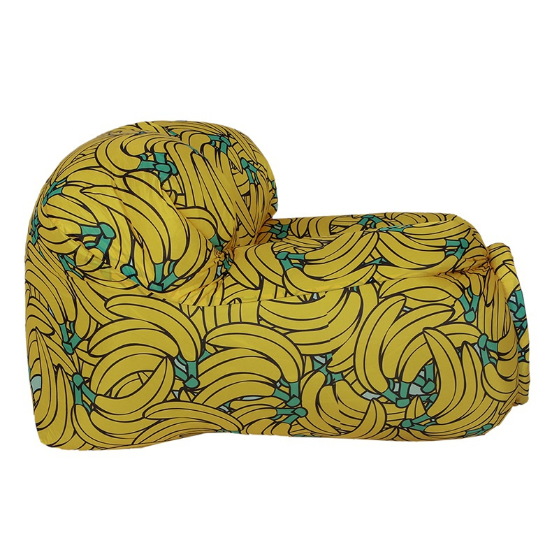 Portable Lazy Air Inflatable Sleeping Bag Chair Banana Watermelon Printed Couch Resistant Self Inflating Pads Lounger for Outdoor Camping Beach