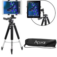 "Acuvar 57"" inch Pro Series Aluminum Tripod with an Acuvar Tablet Mount for Apple iPad, iPad Air, iPad Mini & Most Other Tablets"