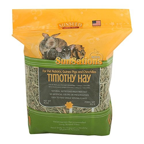 Sunseed SunSations Timothy Hay Dry Small Animal Food, 16 Oz