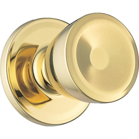 Weiser Lock Polished Brass Beverly Passage Knob GAC101 B3 MS 6LR1