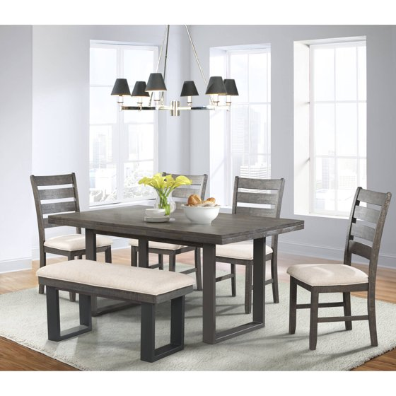 Kitchen Table With 6 Chairs: Picket House Furnishings Sullivan 6-Piece Dining Set With