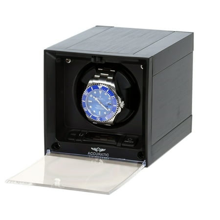 Black Watch Winder Pillow (Cubic Expandable Modular Watch Winder with 14 Different TPD Settings)