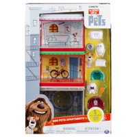 The Secret Life of Pets, Mini Pets Apartments Gift Set with 3 Pets, by Spin Master