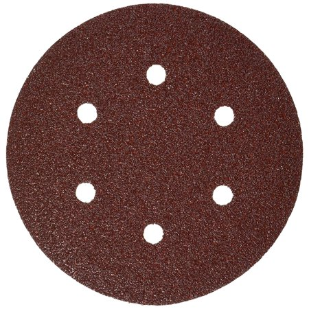 SR6R040 5-Piece 40 Grit 6 In. 6 Hole Hook-And-Loop Sanding Discs, Open-coat, resin-bonded aluminum oxide abrasive provides long life and fast material removal on wood.., By
