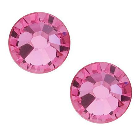 Swarovski Crystal, Round Flatback Rhinestone SS40 8.5mm, 8 Pieces, Rose