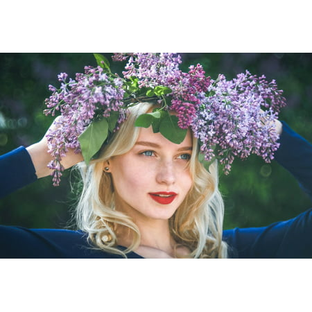 LAMINATED POSTER Photographer Camera Idea Spring Girl Lilac Poster Print 24 x 36 (Spring Centerpiece Ideas)