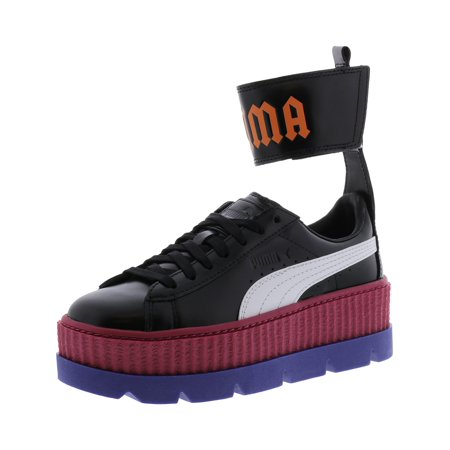Puma Women's Fenty X Ankle Strap Sneaker Black / White Red Bud Clematis Ankle-High Leather Fashion - 7M