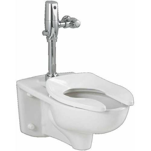 American Standard 3351.660.020 Commercial Afwall Millennium Toilet with Selectronic DC Flushing Valve Combo, White