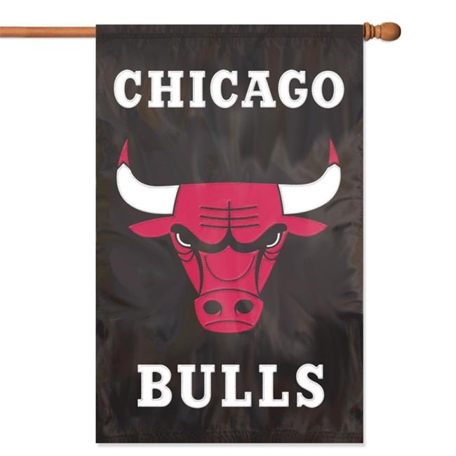 Party Animal, Inc. AFBUL Applique Banner Flag - Chicago Bulls