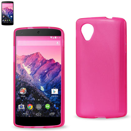 Polymer Case Contains Pearl Powder+Tpu Lg Nexus 5, Google Nexus 5, D820, D821 Hot Pink