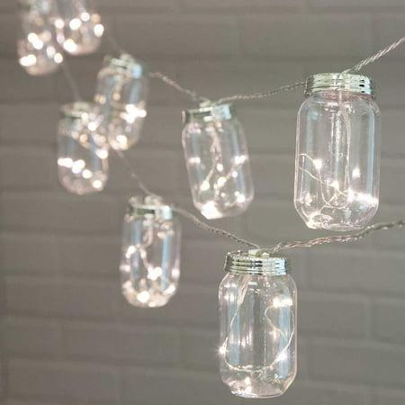 Novelty String Lights Mason Jar Acrylic Fairy Leds 20ft Electric Warm White