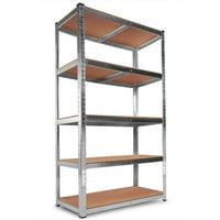 Zimtown 5 Tier Heavy Duty Boltless Metal Shelving Shelves Storage Shelf Garage Home