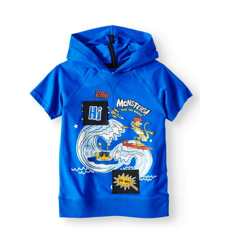 365 Kids from Garanimals Short Sleeve Graphic Hoodie (Little Boys & Big Boys)