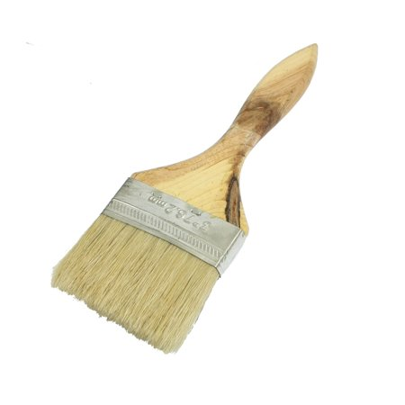 """Unique Bargains 3"""" Width Hair Aluminum Ferrule Wooden Grip Paint Brush"""